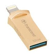 USB ključ Transcend, 32 GB Lightning, JD 500 GO, zlat