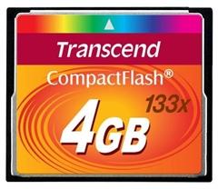 Spominska kartica Transcend CF Ultra Speed 133x, 4 GB