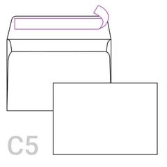 Kuverta C5, 162 x 229 mm, bela, 90 g, 50 kosov