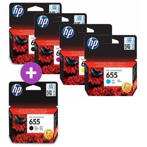 Komplet kartuš HP nr.655 (2 x BK + C/M/Y), original