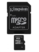 Spominska kartica Kingston microSD C4, 8 GB + adapter