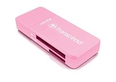 Čitalec spominskih kartic Transcend TS-RDF5R, zunanji, roza