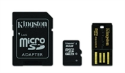 Spominska kartica Kingston microSD C10, 16 GB + adapter
