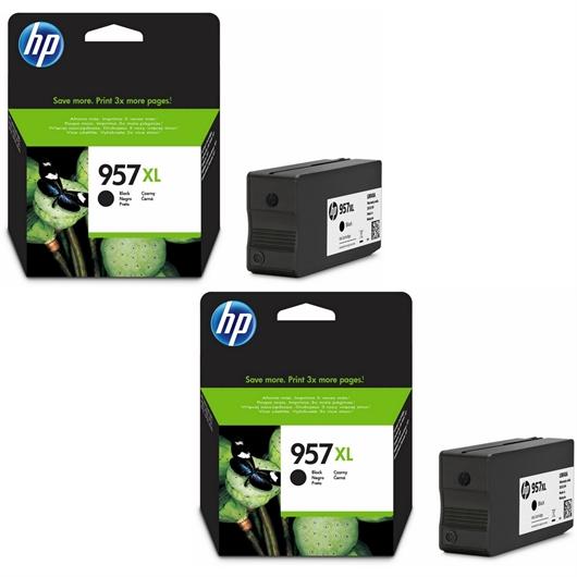 Kartuša HP L0R40AE nr.957XL (črna), dvojno pakiranje, original