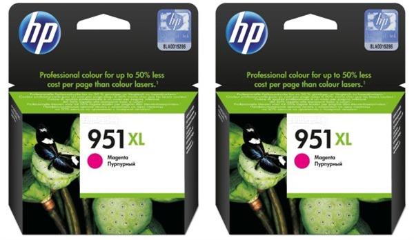 Kartuša HP CN047AE nr.951XL (škrlatna), dvojno pakiranje, original