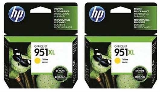 Kartuša HP CN048AE nr.951XL (rumena), dvojno pakiranje, original