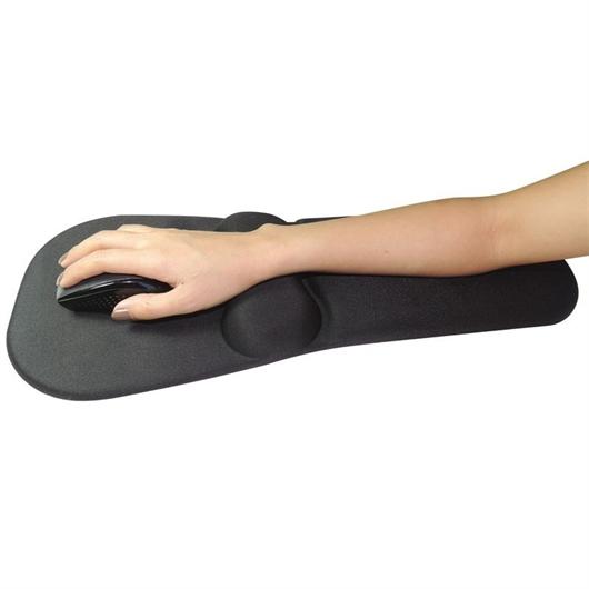 Podloga za miško in opora Sandberg Gel Mousepad Wrist + Arm Rest, črna
