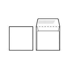Kuverta za CD, 125 x 125 mm, bela, 500 kosov