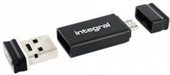 USB ključ Integral Fusion, 16 GB + OTG adapter