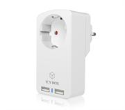 Vtičnica za 2 USB polnilnika Icybox