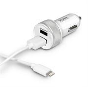 Avto polnilec Port 2x USB + Lightning kabel