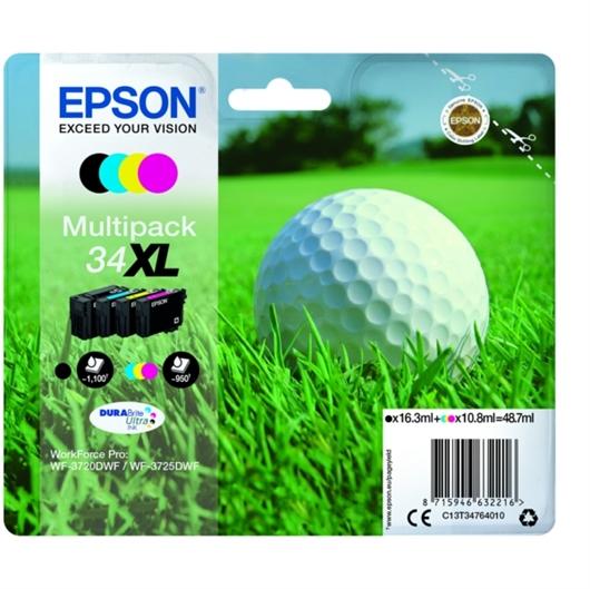 Komplet kartuš Epson 34 XL (C13T34764010) (BK/C/M/Y), original
