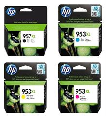 Komplet kartuš HP nr.957XL + 953XL (C/M/Y), original