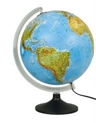 Globus Mariner, reliefni, 30 cm, z lučko, angleški