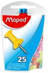 Žebljički Maped za pluto, 25 kosov,  barvni