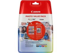 Komplet kartuš Canon CLI-521 (C/M/Y), original + papir (2933B010AA)