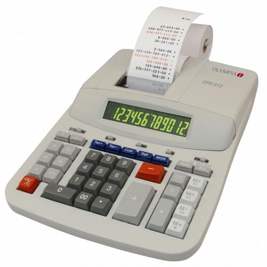 Namizni kalkulator Olympia CPD-512, z izpisom