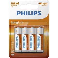 Baterija Philips LongLife AA-R06, 4 kosi