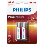 Baterija Philips Power Alkaline AA-LR6, 2 kosa
