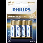 Baterija Philips Premium Alkaline AA-LR6, 4 kosi