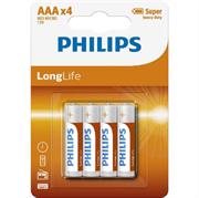 Baterija Philips Longlife AAA-R03, 4 kosi