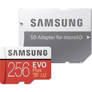 Spominska kartica Samsung EVO+ Micro SDHC UHS-I class10 U3, 256 GB + adapter
