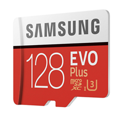 Spominska kartica Samsung EVO+ Micro SDHC UHS-I class10 U3, 128 GB + adapter