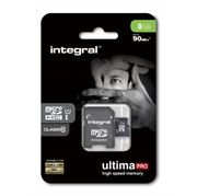 Spominska kartica Integral Micro SDHC class10, 8 GB + adapter