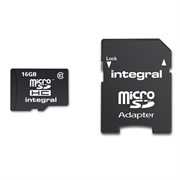 Spominska kartica Integral Micro SDHC Class10, 16 GB + adapter