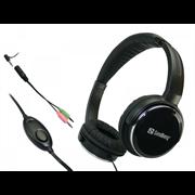 Slušalke z mikrofonom Sandberg Home'n Street Headset, žične, črne