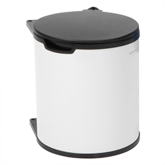 Koš za smeti Brabantia, 15 L - vgradni, bel