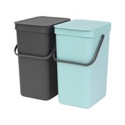 Koša za ločevanje odpadkov Brabantia, 2 x 12 L