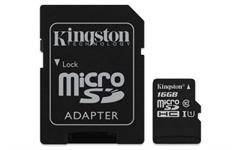 Spominska kartica Kingston Micro SDHC Canvas Select, 16 GB + SD adapter