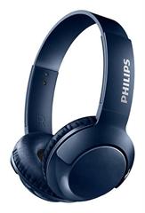 Slušalke z mikrofonom Philips Bass+ SHB3075BL, brezžične, modre