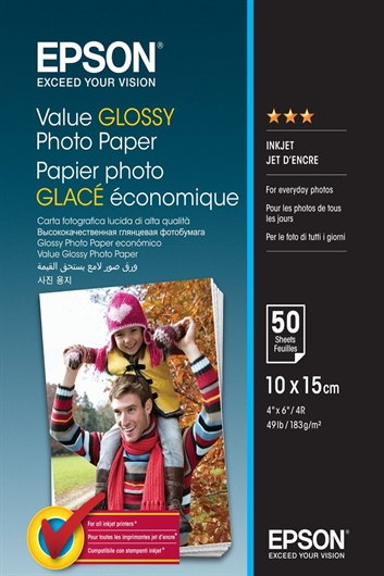 Foto papir Epson C13S400038, A6,  50 listov, 183 gramov