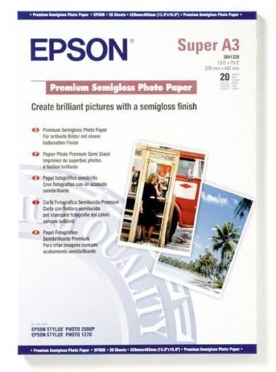 Foto papir Epson C13S041328, A3+, 20 listov, 251 gramov