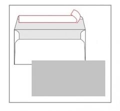 Kuverta amerikanka, barvna (siva) 220 x 110 mm, brez okenca, 100 kos