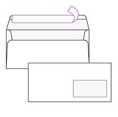 Kuverta amerikanka, 230 x 110 mm, z desnim okencem, 500 kosov, 100 g