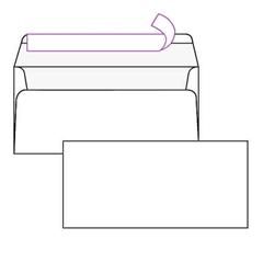 Kuverta amerikanka, 230 x 110 mm, brez okenca, 500 kosov, 100 g