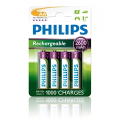 Polnilne baterije Philips AA-HR06, 4 kosi