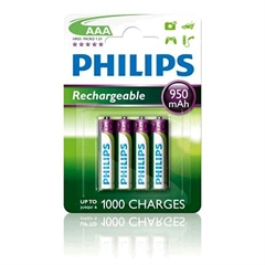 Baterija Philips Polnilna AAA-LR03, 4 kosi