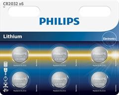 Baterija Philips CR2032, 3V, 6 kosov