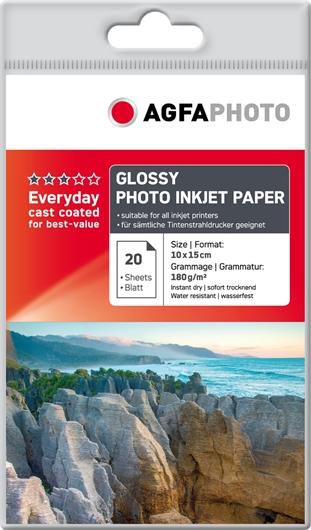 Foto papir AgfaPhoto AP18020A6, A6, 20 listov, 180 gramov