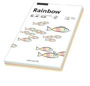 Barvni fotokopirni papir Papyrus Rainbow A4, pastelna mavrica, 100 listov