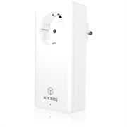 Stenski polnilec USB Icybox, 4 vhodi, bela