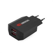 Stenski polnilec USB Crosscall 24 W, 2 vhoda, črna