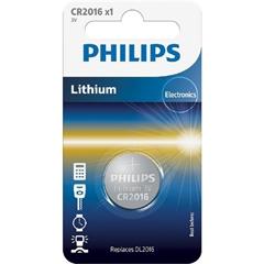 Baterija Philips CR2016, 3V, 1 kos