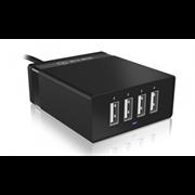 Namizni polnilec USB Icybox, 4 vhodi