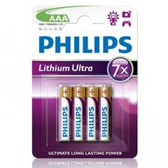 Baterija Philips Lithium Ultra AAA-LR03, 4 kosi