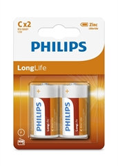 Baterija Philips LongLife C-R14, 2 kosa